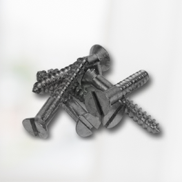 Plain Steel Slotted Flat Head Screws
